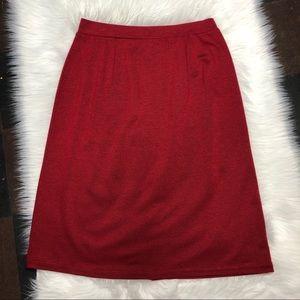 Karen Scott Red and Black Print Pencil Skirt XL